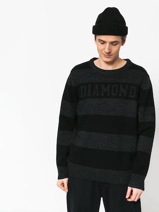 Pulover Diamond Supply Co. Striped Wool (black)