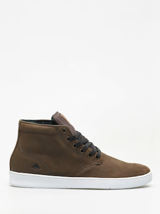Pantofi Emerica Romero Laced High (brown/white)