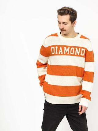 Pulover Diamond Supply Co. Striped Wool (orange)