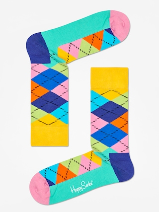 u0218osete Happy Socks Argyle (yellow/blue/green)