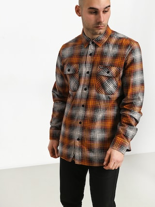 Cu0103mau0219u0103 Brixton Bowery Lw Flannel (burnt orange)