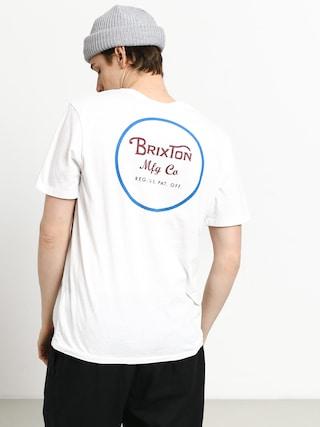 Tricou Brixton Wheeler II Prem (white/blue)