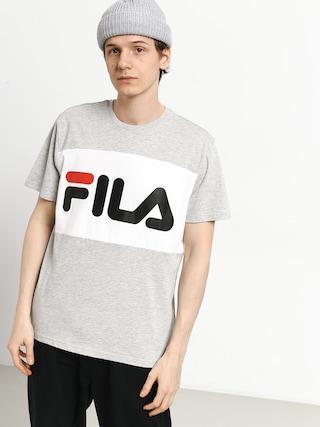 Tricou Fila Day (light grey melange bros/bright white)