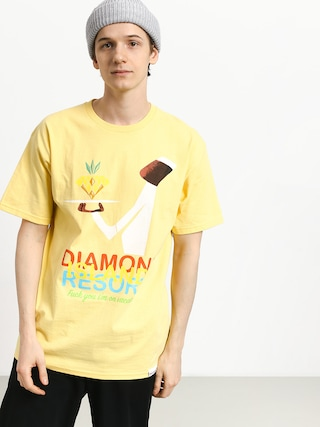 Tricou Diamond Supply Co. Diamond Resort (banana)