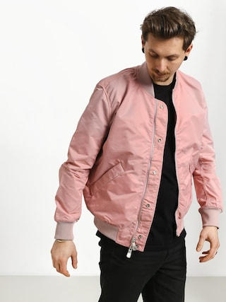 Geacu0103 Diamond Supply Co. Panelled Bomber (pink)