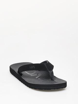 papuci de plaju0103 RVCA Subtropic Sandal (black)