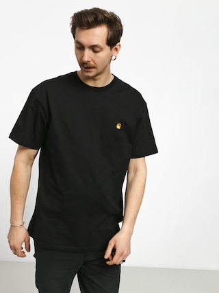 Tricou Carhartt WIP Chase (black/gold)