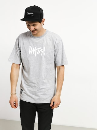 Tricou MassDnm Signature Medium Logo (light heather grey)