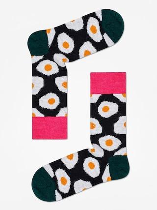 u0218osete Happy Socks Wool Sunny Side Up (black/dark green)