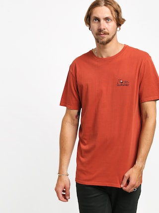 Tricou Quiksilver Bouncing Heart (burnt brick)