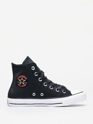 Teniu0219i Converse Chuck Taylor All Star Hi Leather Wmn (black/habanero red/white)