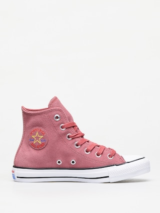 Teniu0219i Converse Chuck Taylor All Star Hi Leather Wmn (light redwood/habanero red)