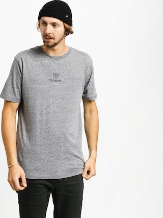 Tricou Brixton Main Label II Prt (heather grey)