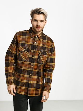 Cu0103mau0219u0103 Brixton Bowery Flannel Ls (brown/gold)