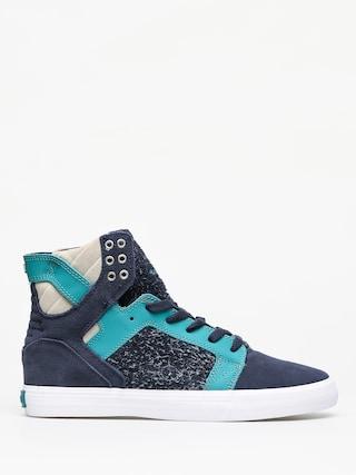 Pantofi Supra Skytop (navy/teal white)