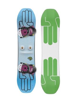 Set snowboard Bataleon Minishred (white/green)