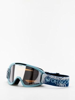 Ochelari pentru snowboard Dragon DX2 (woven palms/lumalens silver ion/lumalens flash blue)
