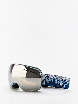 Ochelari pentru snowboard Dragon X1s (woven palms/lumalens silver ion/lumalens flash blue)