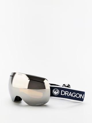 Ochelari pentru snowboard Dragon X1 (designer/lumalens silver ion/lumalens flash blue)