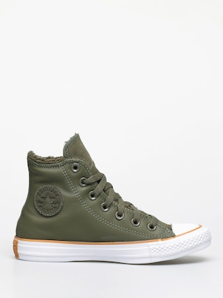 Teniu0219i Converse Chuck Taylor All Star Hi Faux Leather Wmn (field surplus/white/honey)