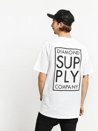 Tricou Diamond Supply Co. Stacked Type (white)