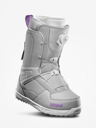 u00cencu0103lu021bu0103minte pentru snowboard ThirtyTwo Shifty Boa Wmn (grey/purple)