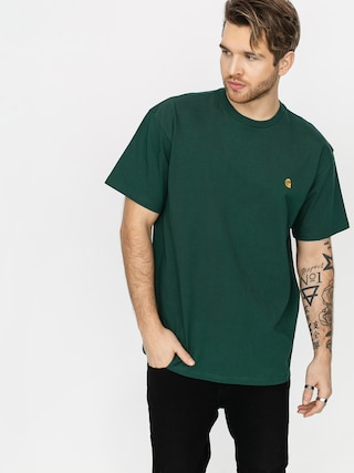 Tricou Carhartt WIP Chase (treehouse/gold)