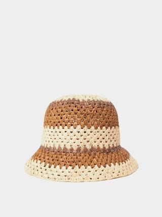Pu0103lu0103rie Brixton Essex Raffia Bucket Hat Wmn (tan/brown)