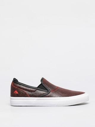Emerica Pantofi Wino G6 Slip On (black/red/white)