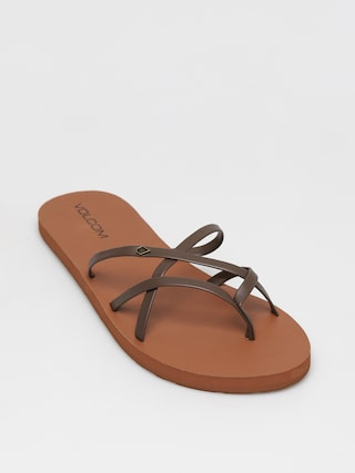 Volcom Klapki New School II Wmn (brown)