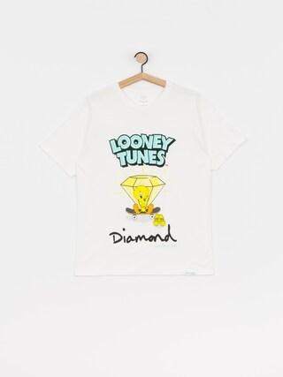 Tricou Diamond Supply Co. Tweety Skate (white)