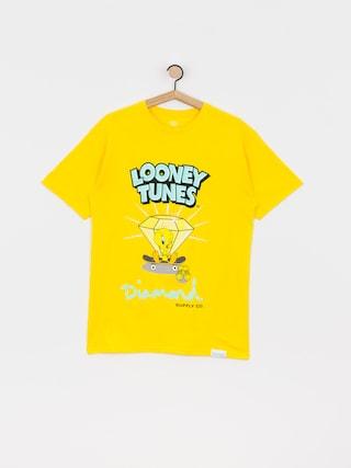 Diamond Supply Co. Tricou Tweety Skate (yellow)