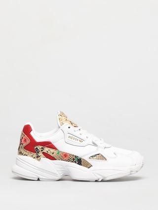 adidas Originals Pantofi Falcon Wmn (white/scarlet/gold met)