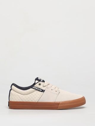 Supra Pantofi Stacks Vulc II (bone/navy gum)