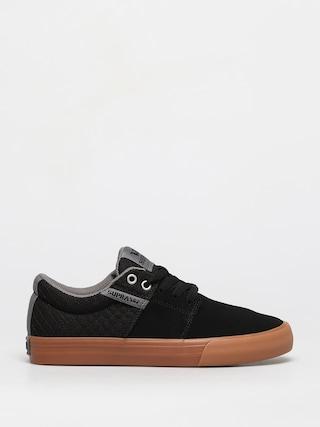 Supra Pantofi Stacks Vulc II (black/grey gum)