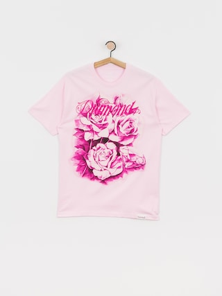 Diamond Supply Co. Tricou Giant Script Blossom (pink)