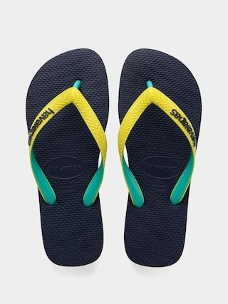 papuci de plaju0103 Havaianas Hav Top Mix Wmn (navy/neon yellow)