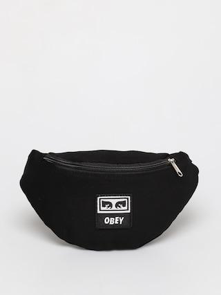 Borsetu0103 de bru00e2u OBEY Wasted Hip Bag (black twill)