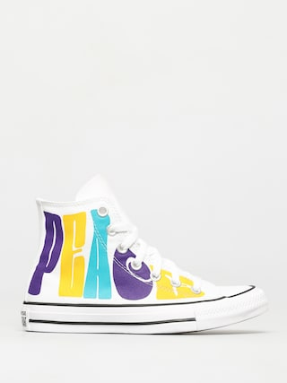 Converse Teniu0219i Chuck Taylor All Star Hi (white/court purple/amarillo)