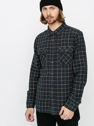 Brixton Cu0103mau0219u0103 Bowery Flannel Ls (washed black/blue)