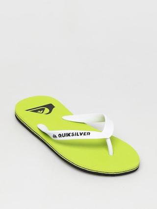 papuci de plaju0103 Quiksilver Molokai (black/green/green)