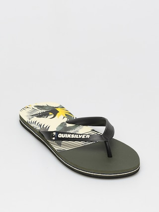 Quiksilver Papuci de plaju0103 Molokai Jungle Swell (black/white/black)