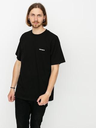 Carhartt WIP Tricou Script Embroidery (black/white)