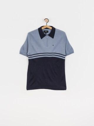 Brixton Tricou polo Allen 1/4 Zip (twilight blue/washed navy)