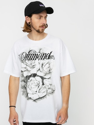 Diamond Supply Co. Tricou Giant Script Blossom (white)