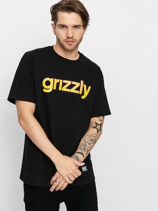 Grizzly Griptape Tricou X Champion Lowercase Fadeaway (black)