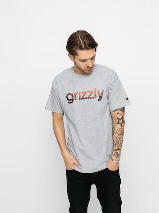 Grizzly Griptape Tricou X Champion Lowercase Fadeaway (grey heather)