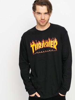 Tricou Thrasher Flame Logo (black)