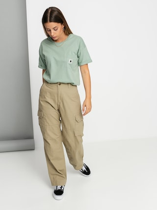 Carhartt WIP Tricou Carrie Pocket Wmn (frosted green)