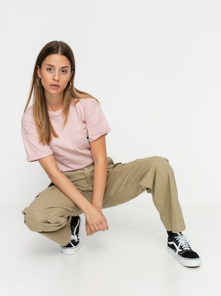 Carhartt WIP Tricou Carrie Pocket Wmn (frosted pink)